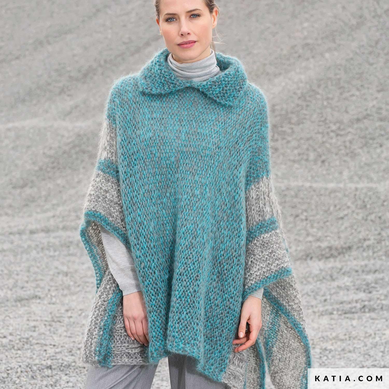 Poncho Dames Herfst Winter Modellen Patronen Katiacom