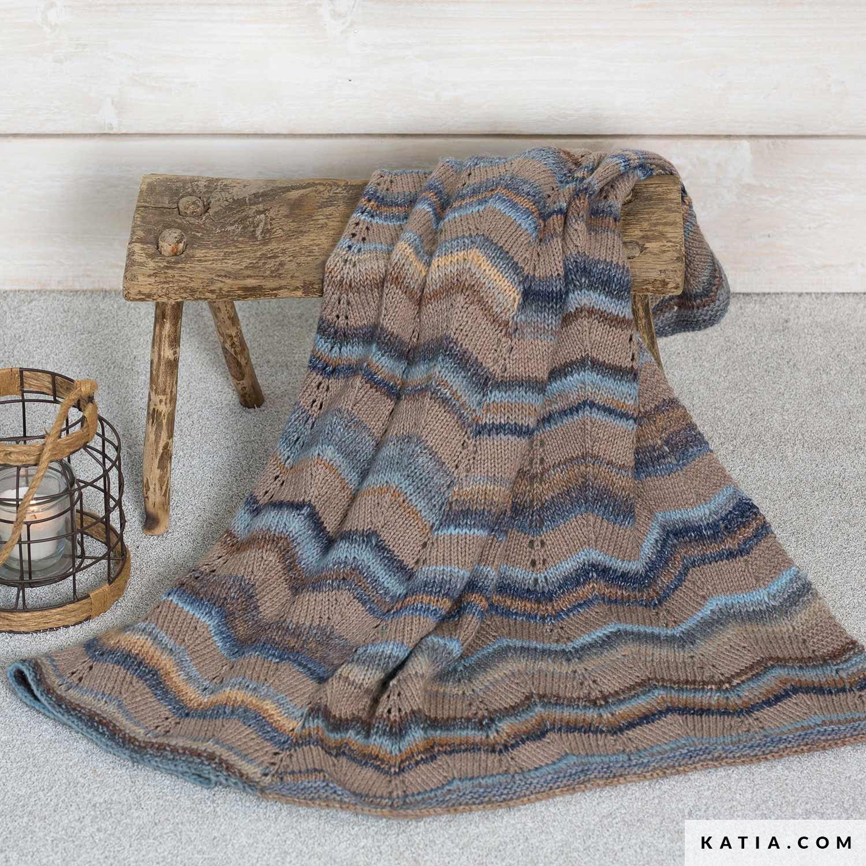 Blanket Home Autumn Winter Models Patterns Katia