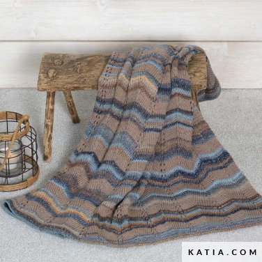 pattern knit crochet home blanket autumn winter katia 6102 26 p