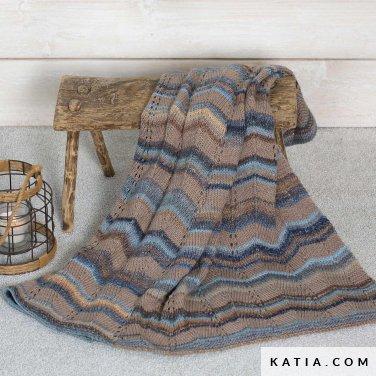 pattern knit crochet home blanket autumn winter katia 6102 26 p