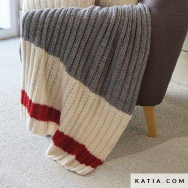pattern knit crochet home blanket autumn winter katia 6102 36 p