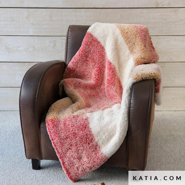 pattern knit crochet home blanket autumn winter katia 6102 49 p