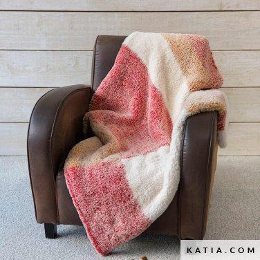 pattern knit crochet home blanket autumn winter katia 6102 49 p