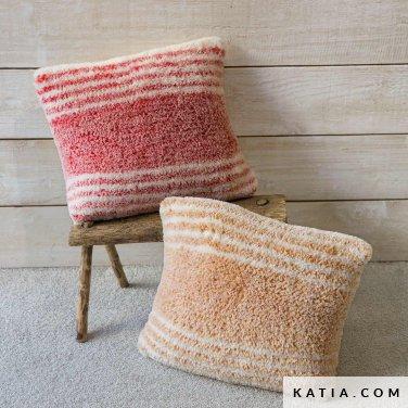pattern knit crochet home cushion autumn winter katia 6102 48 p