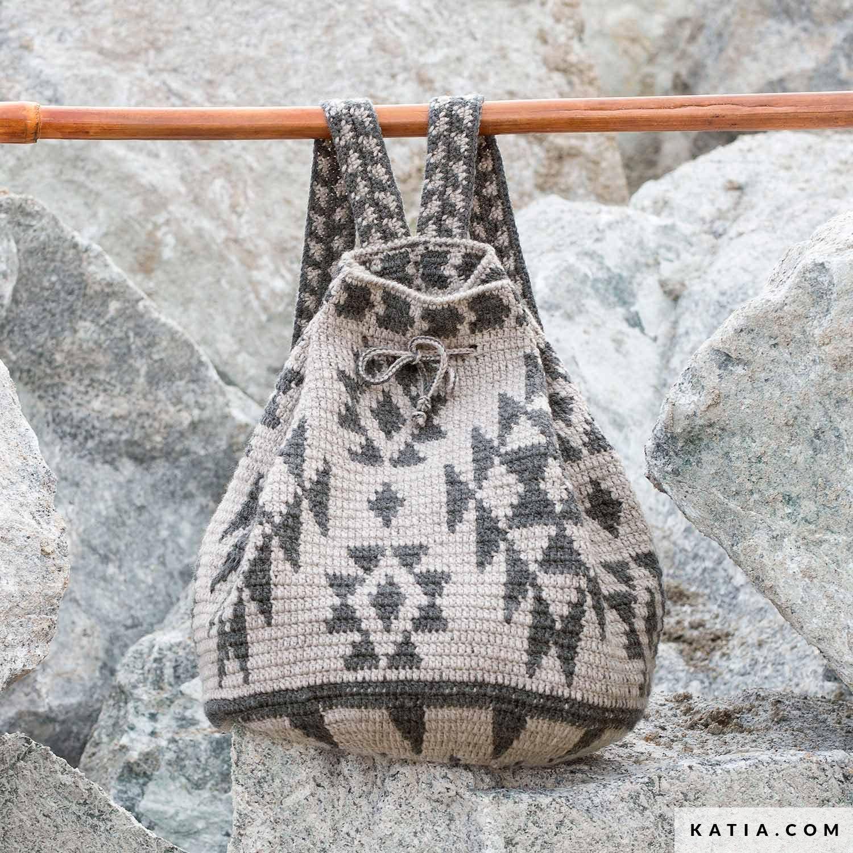 Backpack Woman Autumn Winter Models Patterns Katiacom