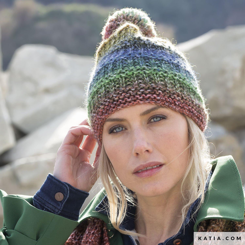 Cap Woman Autumn Winter Models Patterns Katiacom