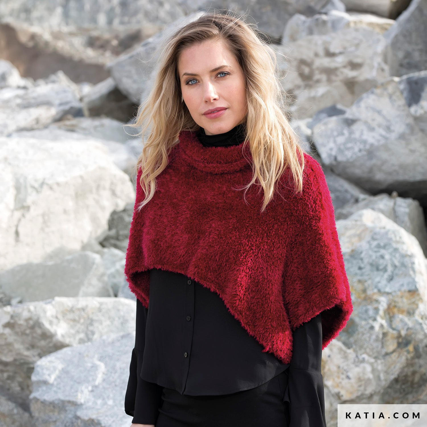ff5a41704 Poncho - Woman - Autumn / Winter - models & patterns | Katia.com