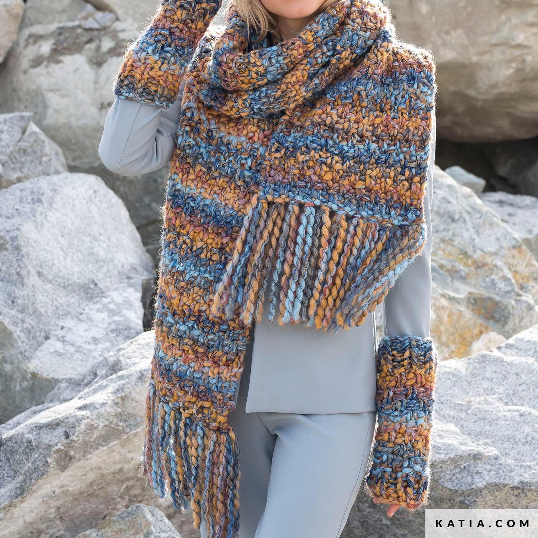 Scarf Woman Autumn Winter Models Patterns Katia