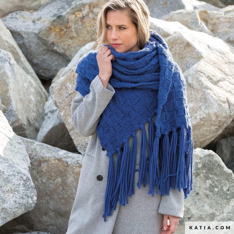 Scarf Woman Autumn Winter Models Patterns Katia Com