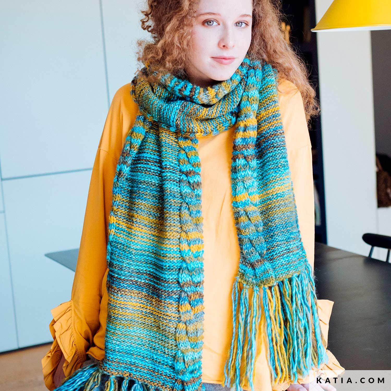 Bufanda - Mujer - Otoño / Invierno - patrones | Katia.com