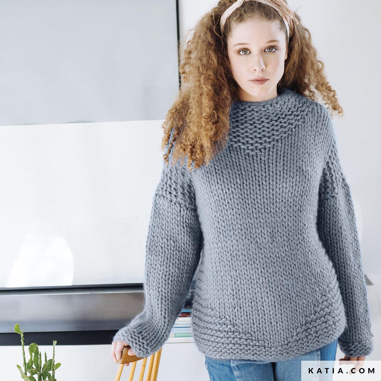 ff134e049f262 patron tricoter tricot crochet femme pull automne hiver katia 6103 14 g