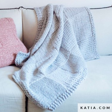 pattern knit crochet home blanket autumn winter katia 6103 27 p
