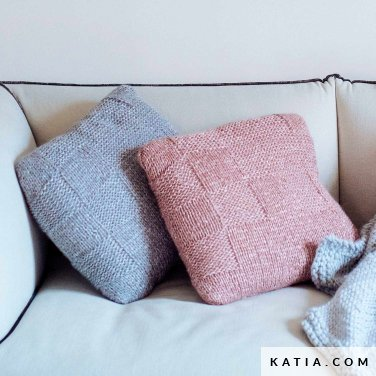 pattern knit crochet home cushion autumn winter katia 6103 26 p