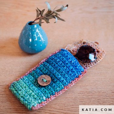 pattern knit crochet home eyeglass case autumn winter katia 6103 6 p