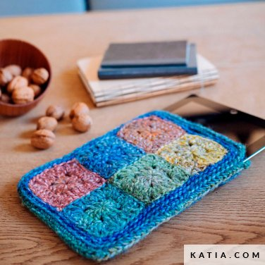 pattern knit crochet home tablet cover autumn winter katia 6103 4 p