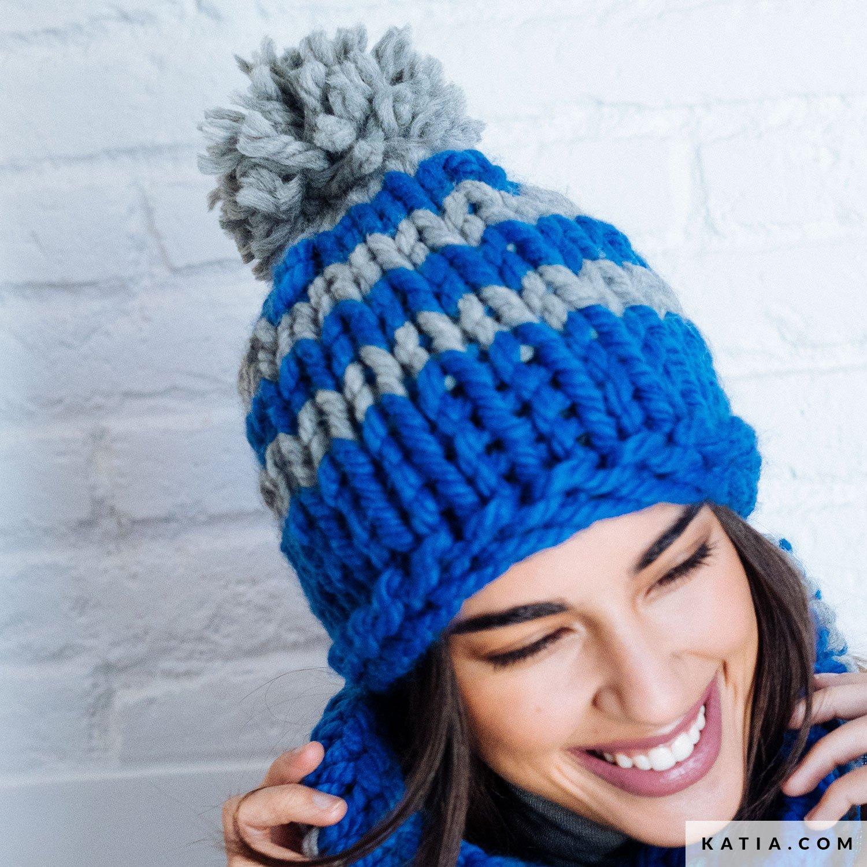 382f6832274 pattern knit crochet woman cap autumn winter katia 6103 1 g