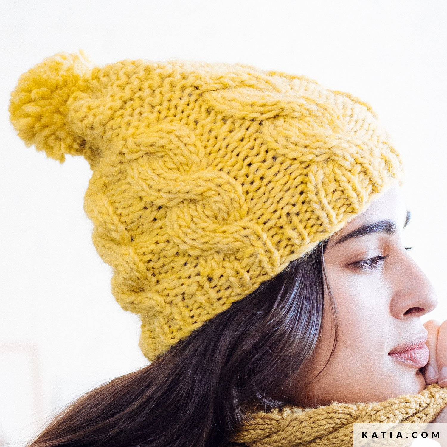 e27a0c7198b33 pattern knit crochet woman cap autumn winter katia 6103 10 g