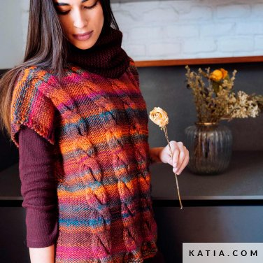 pattern knit crochet woman vest autumn winter katia 6103 29 p