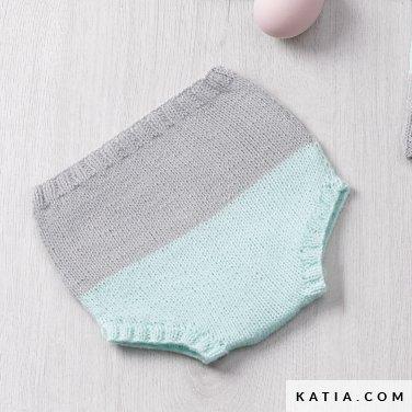 patron tricoter tricot crochet layette culotte bebe printemps ete katia  6120 17 p f89fe47e6db