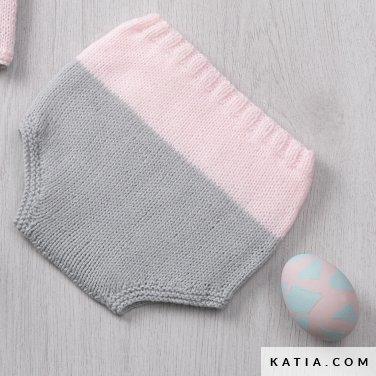 patron tricoter tricot crochet layette culotte bebe printemps ete katia  6120 19 p 83ac3d89197
