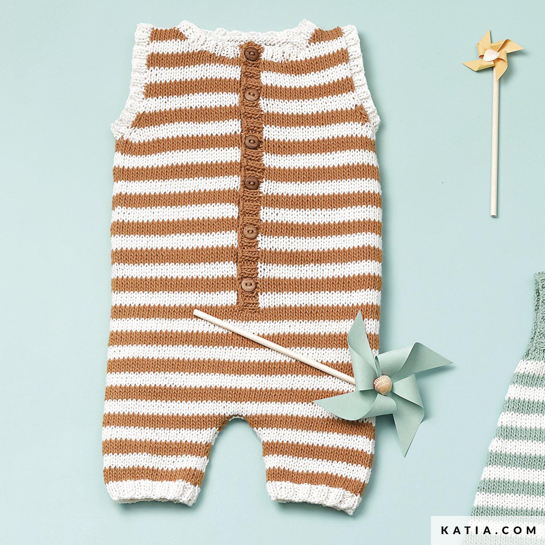9f7158407c0 patron tricoter tricot crochet layette grenouillere printemps ete katia  6120 44 g