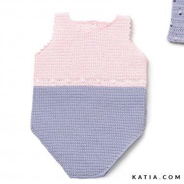 patroon breien haken baby body lente zomer katia 6120 2 p