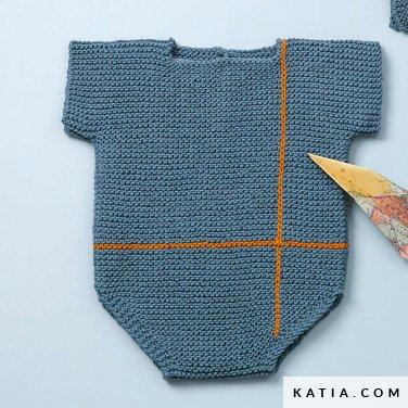 patroon breien haken baby body lente zomer katia 6120 26 p