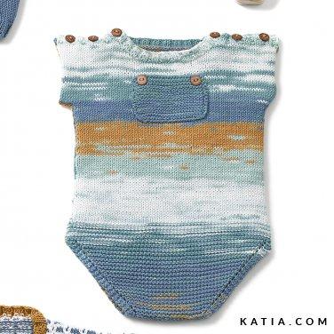 patroon breien haken baby body lente zomer katia 6120 31 p