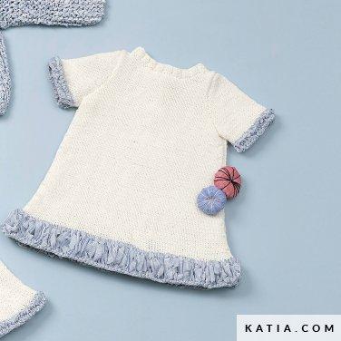 patroon breien haken baby jurk lente zomer katia 6120 21 p