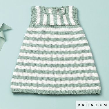 patroon breien haken baby jurk lente zomer katia 6120 45 p
