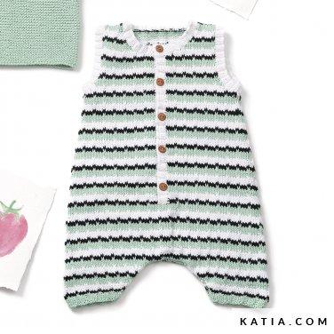 patroon breien haken baby kruippakje lente zomer katia 6120 39 p