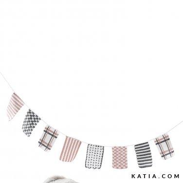 patroon breien haken baby slinger met vlaggetjes lente zomer katia 6120 11 p
