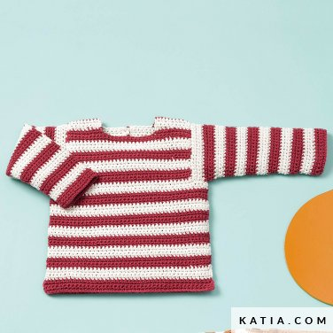 patroon breien haken baby trui lente zomer katia 6120 47 p
