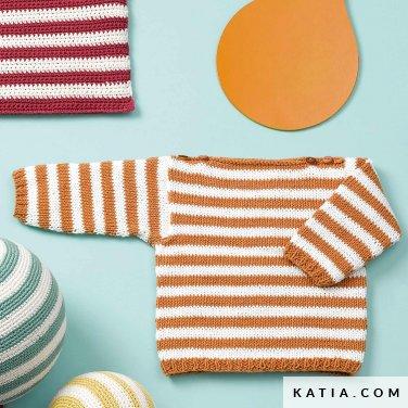 patroon breien haken baby trui lente zomer katia 6120 48 p