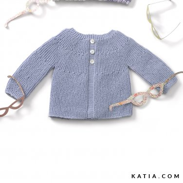 patroon breien haken baby trui lente zomer katia 6120 6 p
