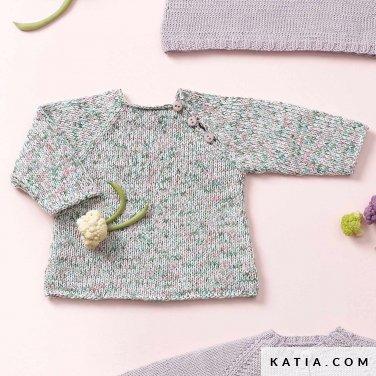 patroon breien haken baby trui lente zomer katia 6120 8 p