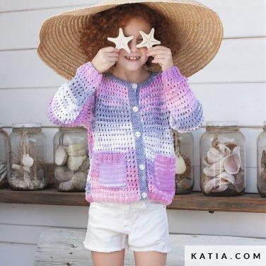 patroon breien haken kinderen jas lente zomer katia 6121 1 p