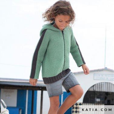 patroon breien haken kinderen jas lente zomer katia 6121 19 p