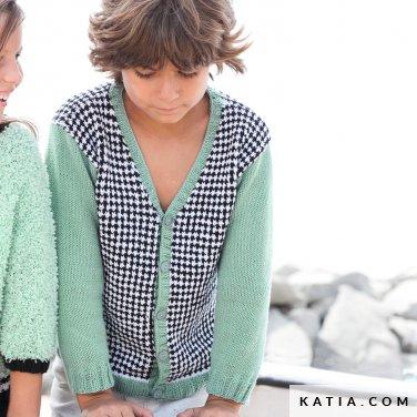patroon breien haken kinderen jas lente zomer katia 6121 21 p