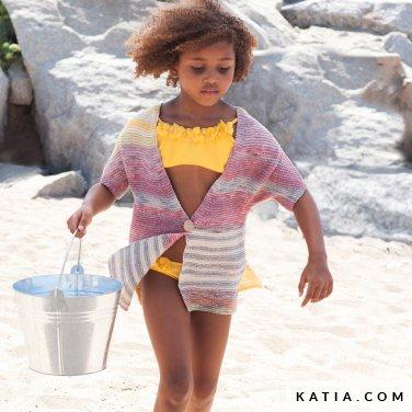 patroon breien haken kinderen jas lente zomer katia 6121 35 p