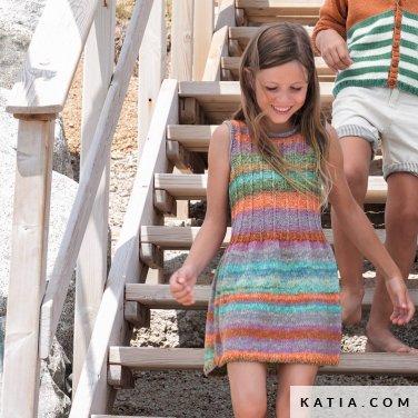 patroon breien haken kinderen jurk lente zomer katia 6121 25 p
