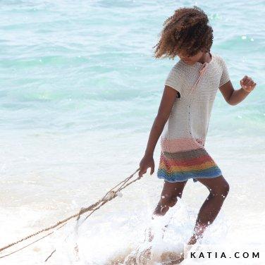 patroon breien haken kinderen jurk lente zomer katia 6121 36 p