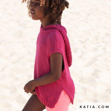 patroon breien haken kinderen trui lente zomer katia 6121 10 p