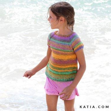 patroon breien haken kinderen trui lente zomer katia 6121 32 p