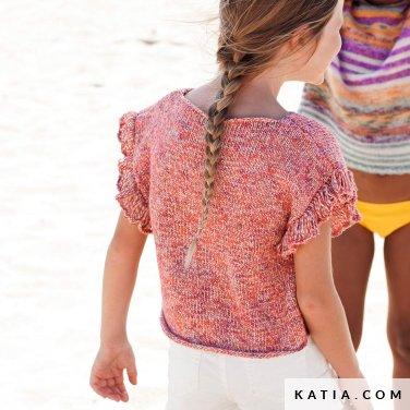 patroon breien haken kinderen trui lente zomer katia 6121 34 p