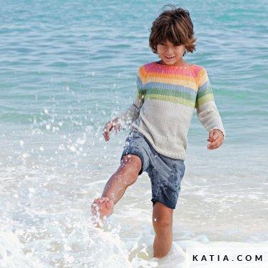 patroon breien haken kinderen trui lente zomer katia 6121 37 p