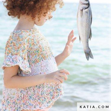 patroon breien haken kinderen trui lente zomer katia 6121 40 p
