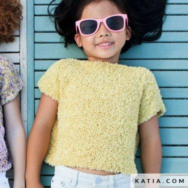 patroon breien haken kinderen trui lente zomer katia 6121 5 p