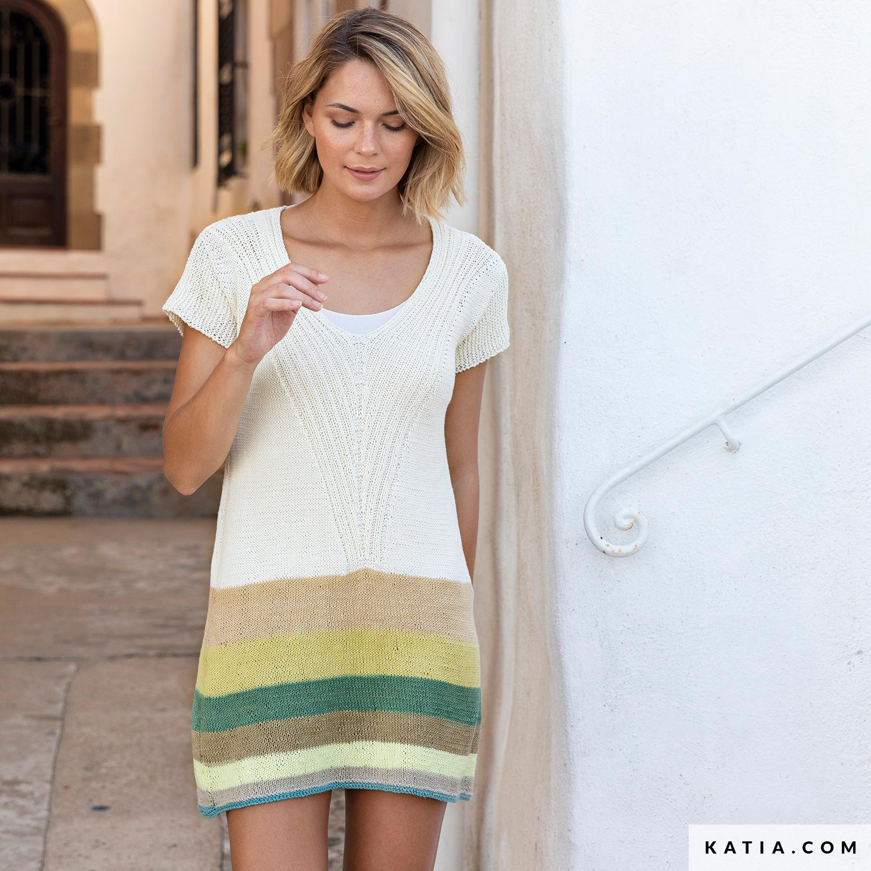 c08cbe3a3dce patron tricoter tricot crochet femme robe printemps ete katia 6122 59 g