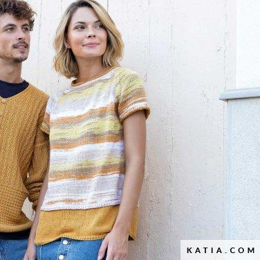 patroon breien haken dames trui lente zomer katia 6122 12 p